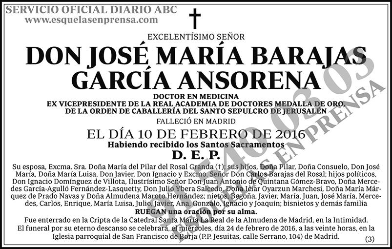 José María Barajas García Ansorena